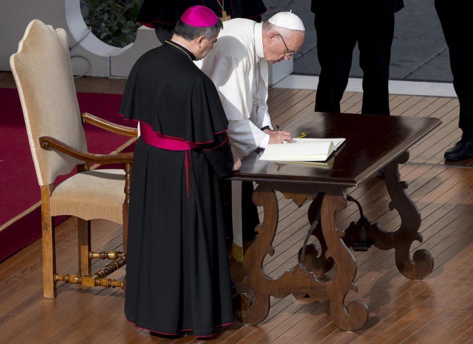 Assinatura de «Misericordia et misera», Vaticano. Foto: Lusa