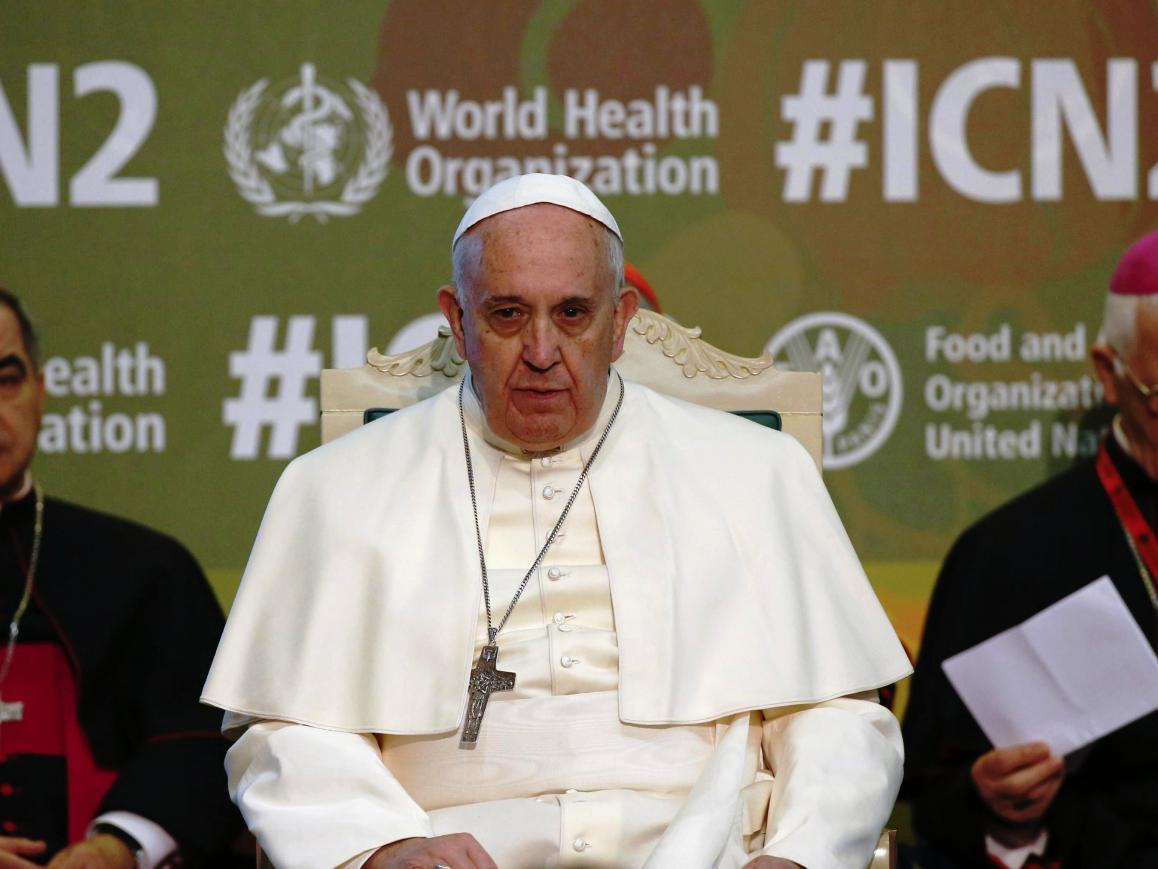 Papa Francisco na FAO Foto: Lusa (arquivo 2014)