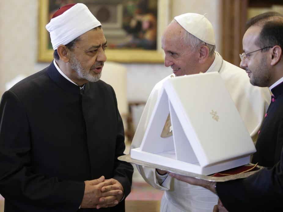 Papa Francisco e o xeque Ahmed Mohamed el-Tayyib