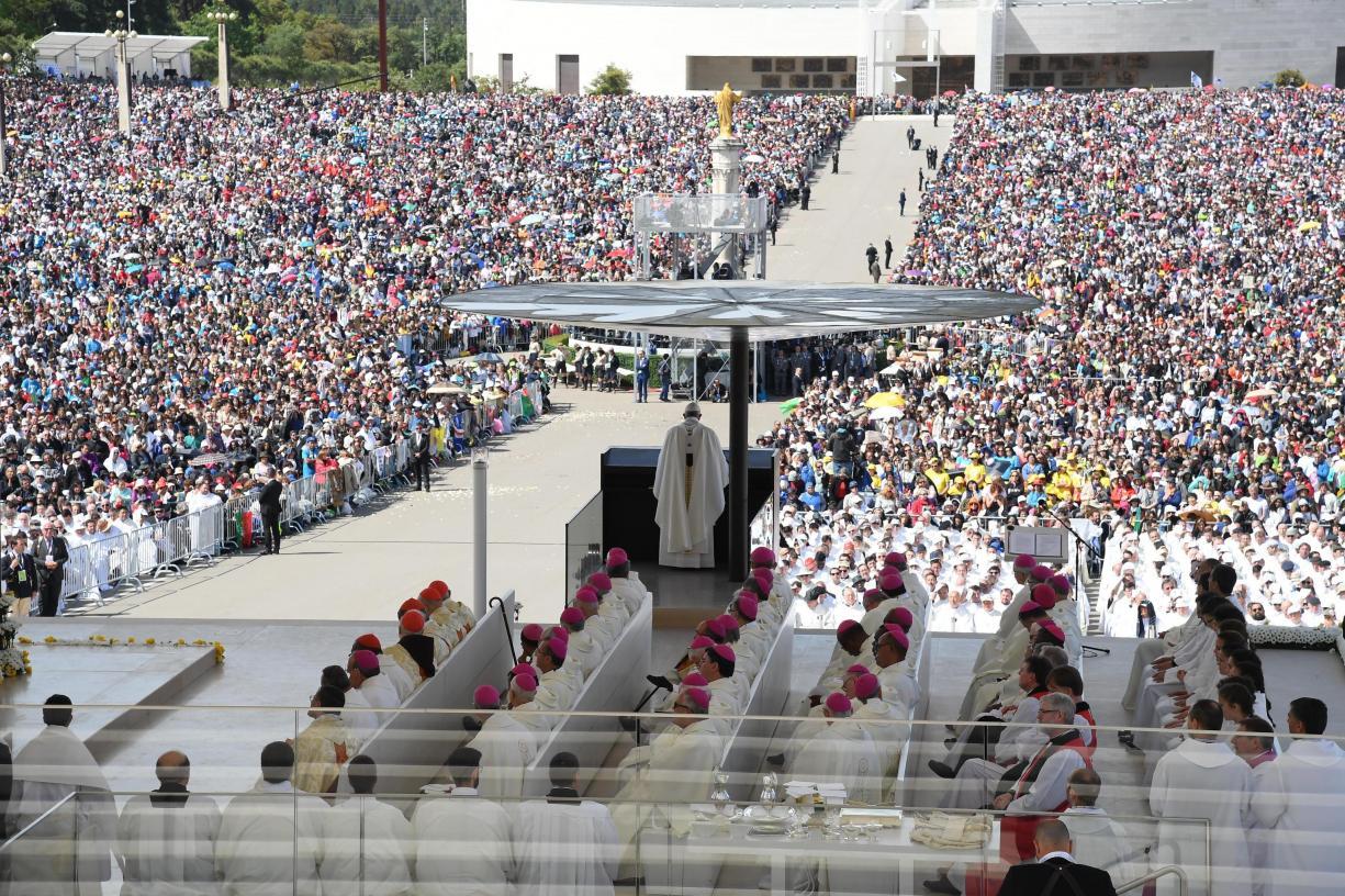 Foto Lusa, Papa Francisco em Fátima