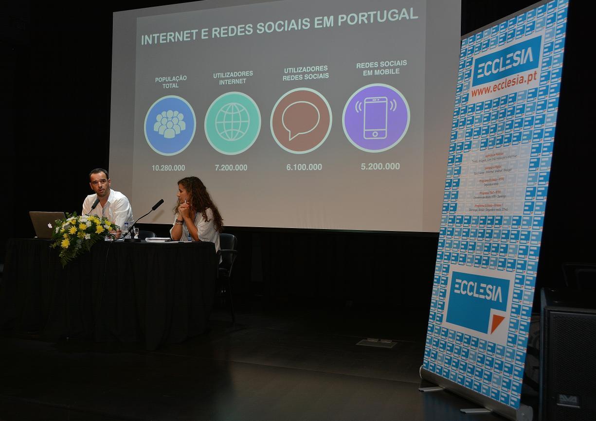 Foto Arlindo Homem/AE, Jornadas Nacionais de Comunicação Social: Eduardo André e Imelda Monteiro