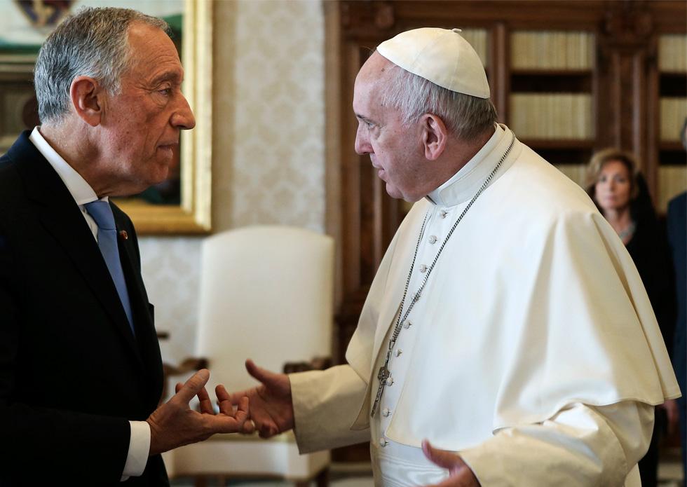 Lusa, Presidente da República com o Papa Francisco, no Vaticano