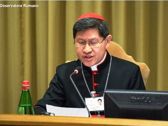Resultado de imagem para Cardeal Luis Antonio Tagle