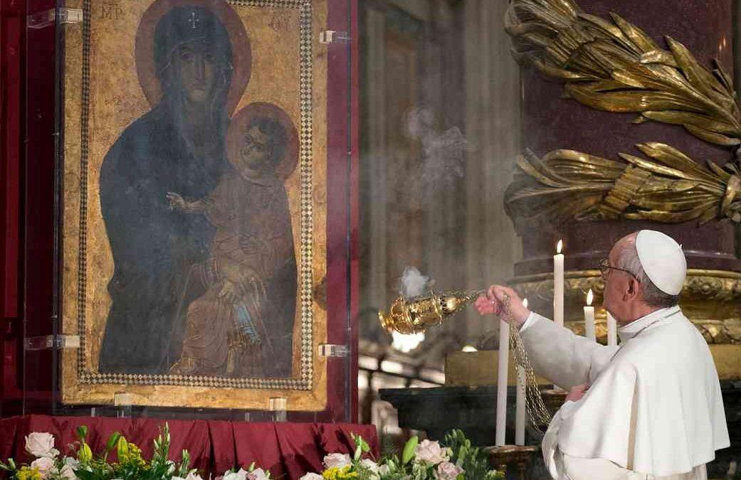 Papa: Celebração presidida por Francisco assinala restauro de popular ícone de Maria