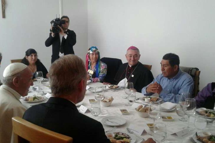 Chile: Papa almoçou com indígenas em Araucanía, a «terra da discórdia»