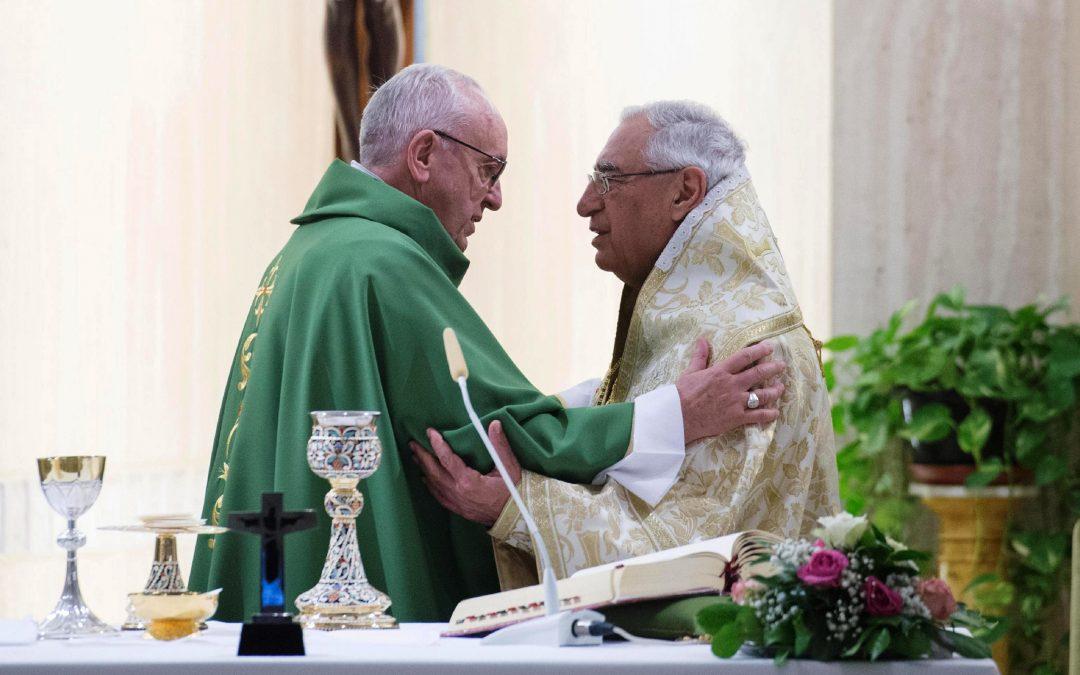 Vaticano: Papa concelebrou com patriarca da Igreja de Antioquia dos Greco-Melquitas e manifestou solidariedade aos católicos no Médio Oriente