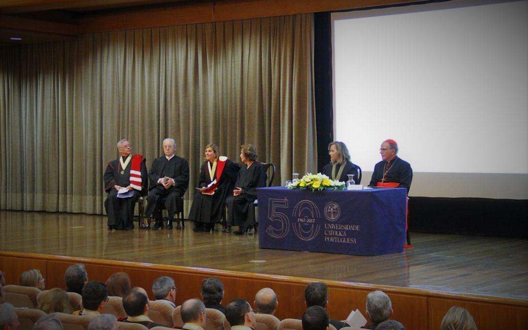Igreja/Ensino: Cardeal-patriarca diz que Universidade Católica ajudou a «consolidar» Portugal