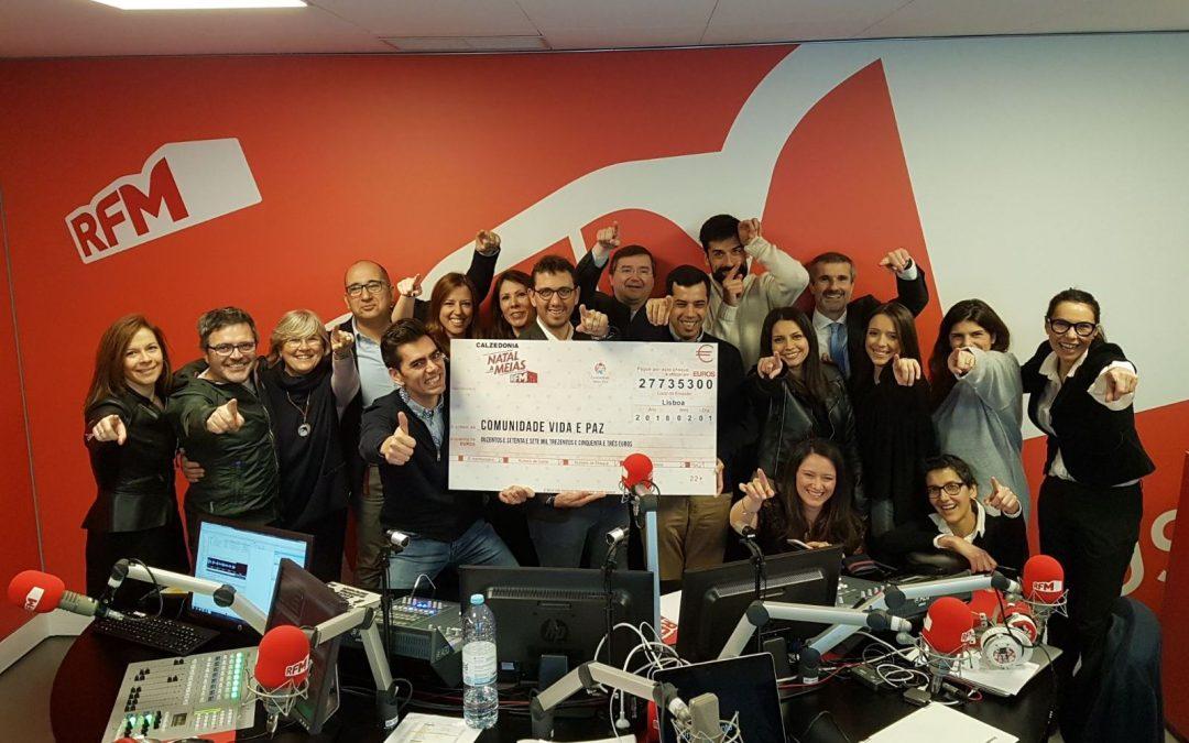 Solidariedade: Rádios do Grupo Renascença Multimédia recolheram mais de 370 mil euros em campanhas de Natal