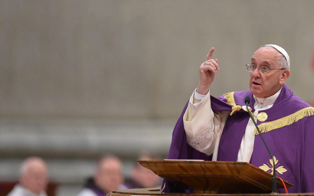 Quaresma 2018: As propostas do Papa