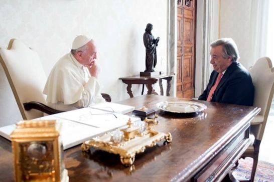 Igreja/Sociedade: Secretário-geral da ONU elogia «pontificado admirável» de Francisco