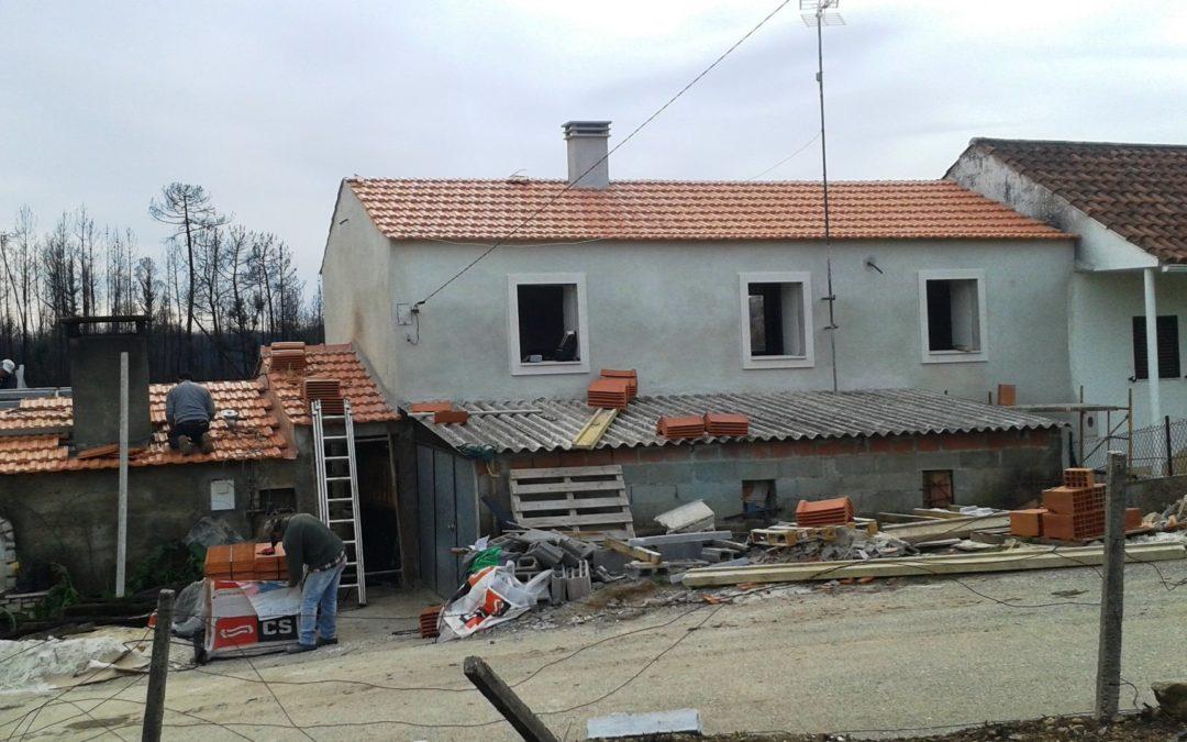 Incêndios: Cáritas já entregou 38 casas e vai reconstruir mais 33 até maio