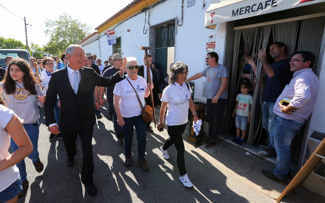 Évora: Marcelo «peregrino» inaugurou nova rota do Caminho Português de Santiago