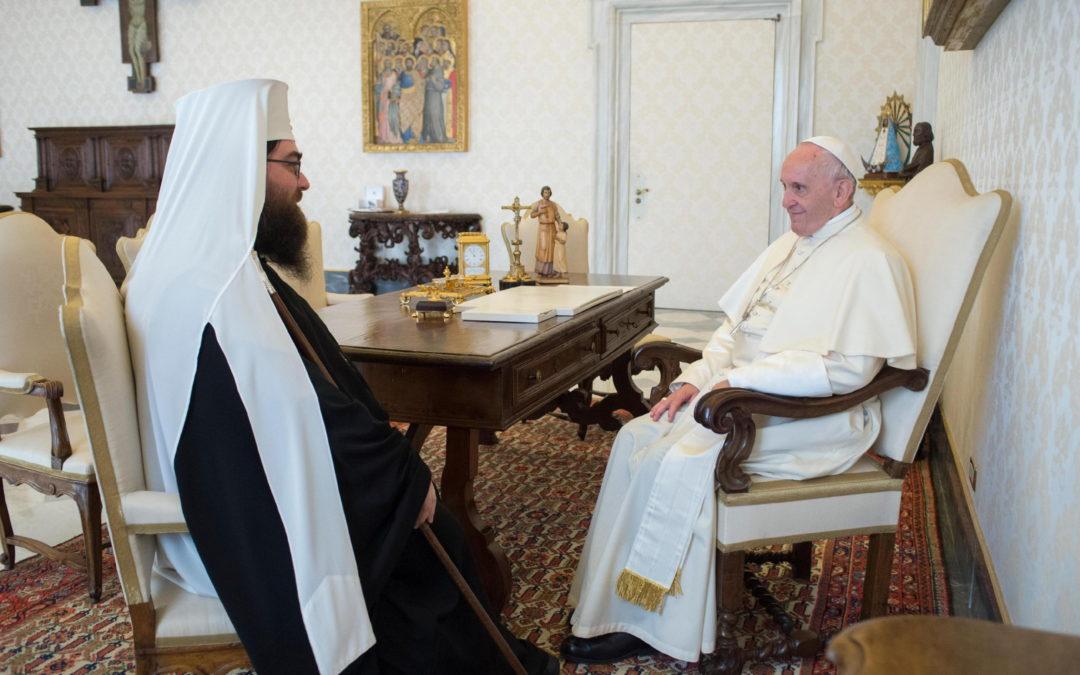 Vaticano: Papa recebeu patriarca ortodoxo da República Checa e Eslováquia