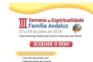 Vida Consagrada: Semana de Espiritualidade Família Andaluz