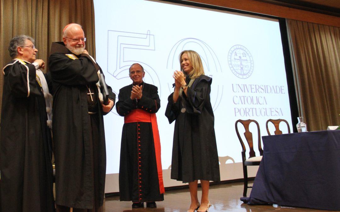 Ensino: Universidade Católica homenageia cardeal norte-americano Sean O'Malley, «amigo de Portugal»