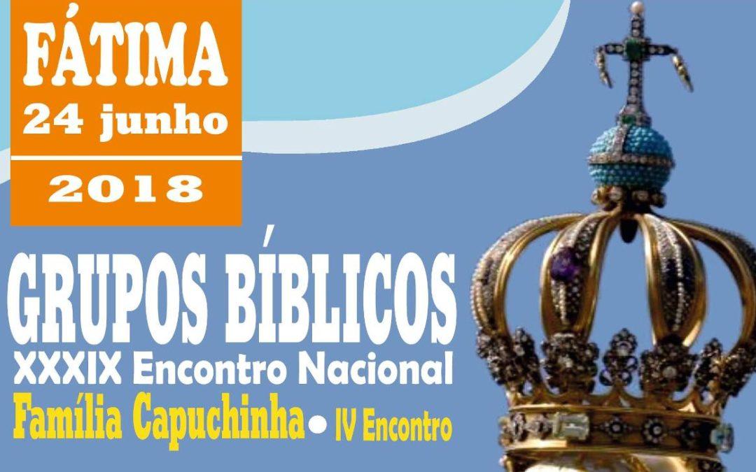 Vida Consagrada: Encontro Nacional dos Grupos Bíblicos e da Família Capuchinha em Fátima