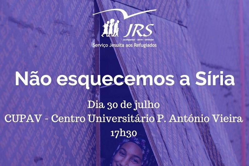 Sociedade: Serviço Jesuíta a Refugiados promove conferência sobre a Síria