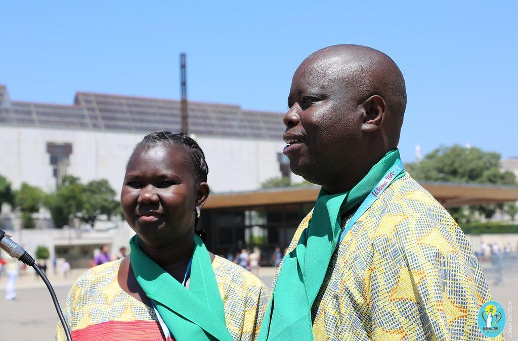 Família: Casal do Senegal veio pela primeira vez a Fátima para participar no Encontro Internacional das Equipas de Nossa Senhora