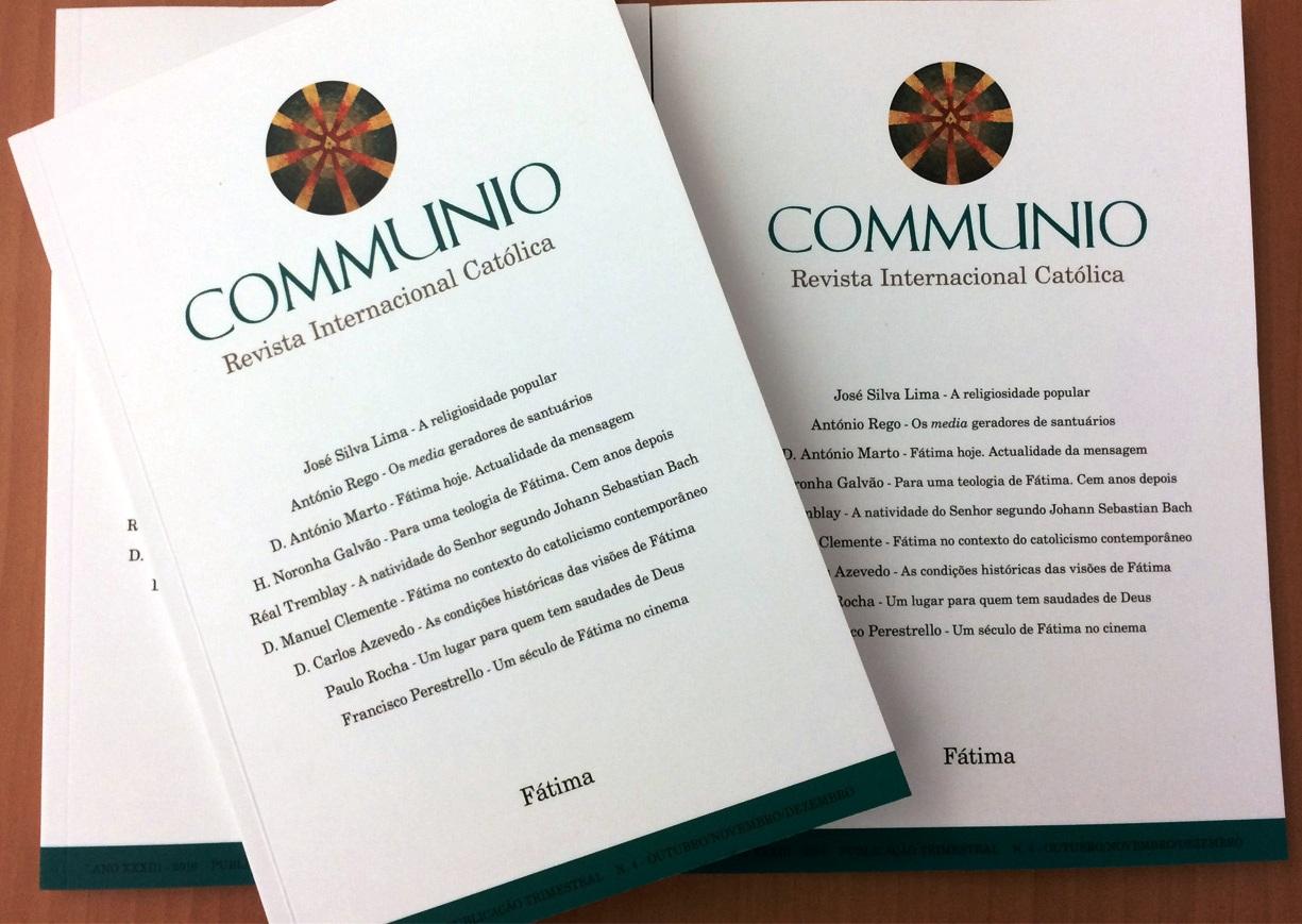 Publicações: «Communio» dedica número ao Centenário das Aparições  de Fátima