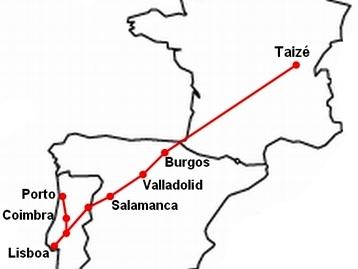 taize mapa Agência Ecclesia   Taizé: Rota de autocarros liga Portugal à  taize mapa