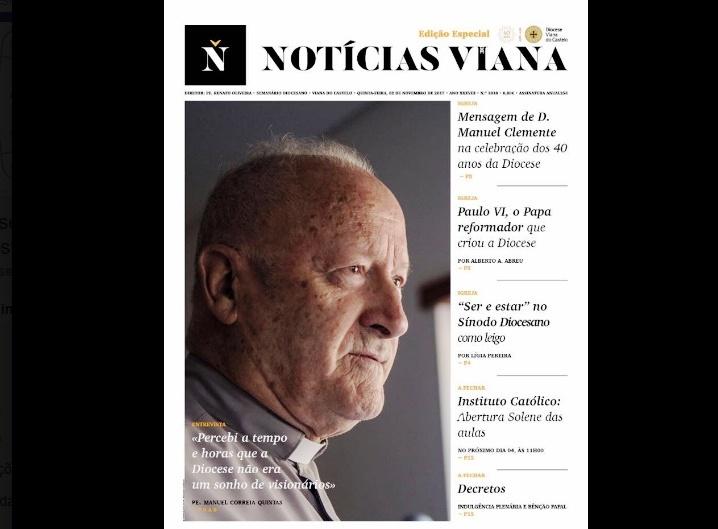 Media: «Notícias de Viana» dedica edição especial aos 40 anos da diocese minhota