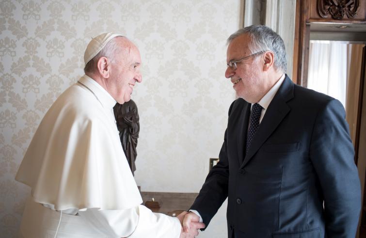 Vaticano: Papa recebeu fundador da Comunidade de Sant'Egídio