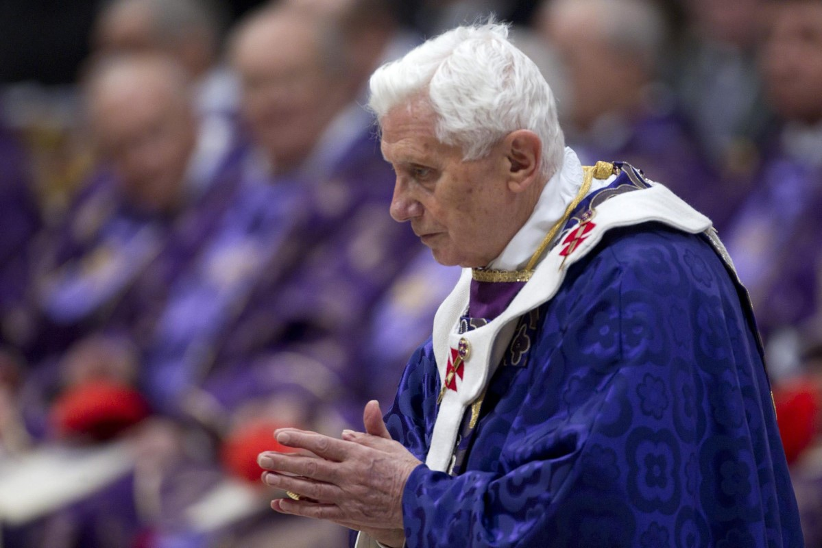 Pope Benedict XVI attends the Ashes Wednesday Mass